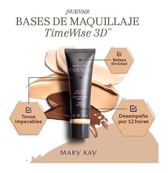 Maquillaje Liquido Time Wise 3 D Mate Mary Kay