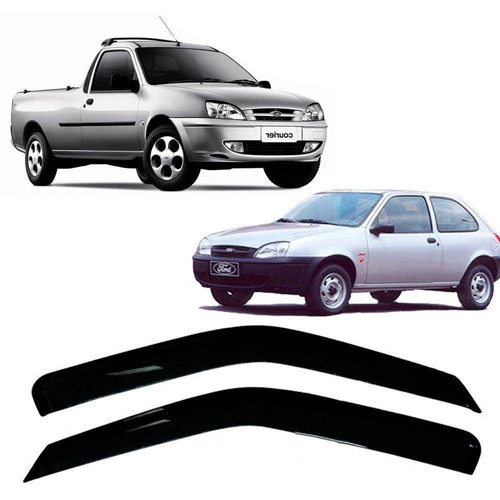 Imagem 1 de 7 de Ford Fiesta Hatch96/01 E Courier97/12 2pt Calha Auto Tg Poli