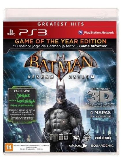 Batman Arkham Asylum Goty Ps3 Mídia Física Lacrado