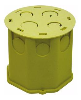 Kit Caixa Plastica Fundo Movel Dupla Luz Amarela 45 Unidades