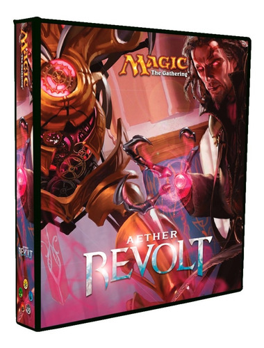 Imagem 1 de 8 de Álbum Magic Fichário Eather Revolt + 10 Folhas 9 Bolsos
