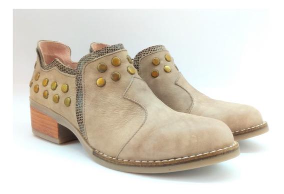 Botas Mujer Cuero Caña Baja Riot Art 182 Zona Zapatos