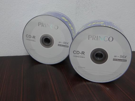 Paquete De Cd Virgen Princo 700mb 80min 50 Unidades 56x Cd-r