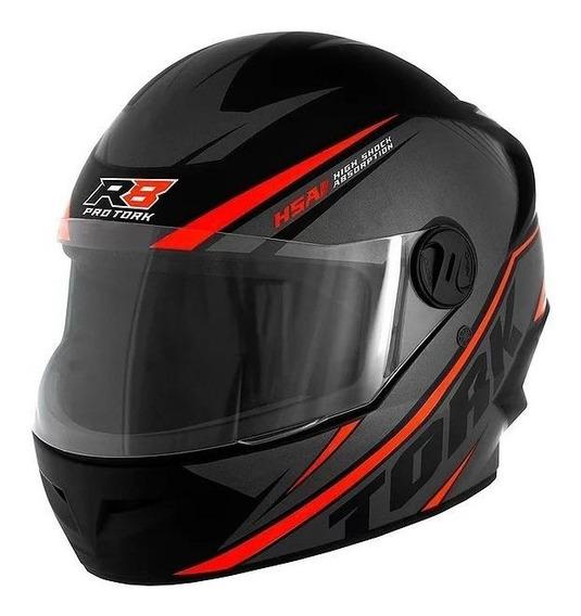 Capacete para moto integral Pro Tork R8 preto, vermelho tamanho 56