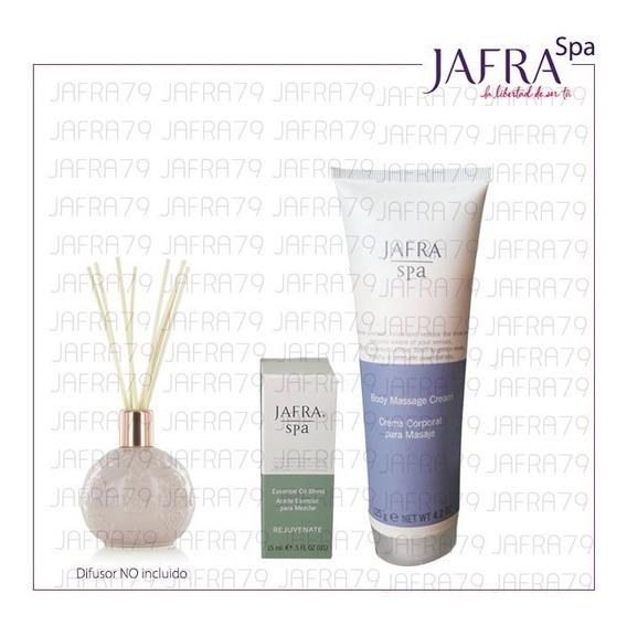Crema Corporal+aceite Para Masaje-antiestres Jafra Spa Set