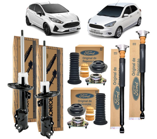 Kit 4 Amortecedor New Fiesta Novo Ka Completo Original Ford