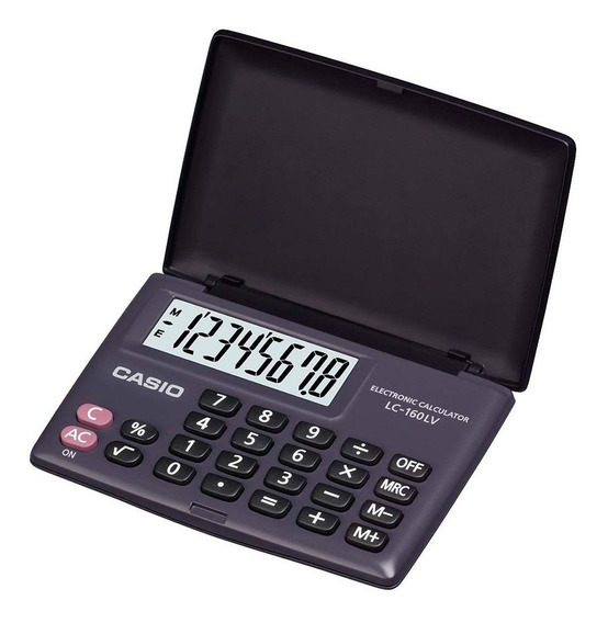 Calculadora Portátil Casio Preta 8 Dígitos - Lc-160lv-bk