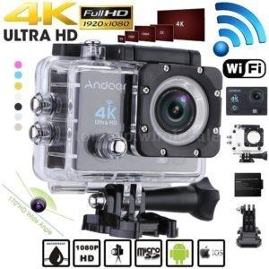 Camera 4k + Boia Flutuadora + Carregador + Bateria Extra