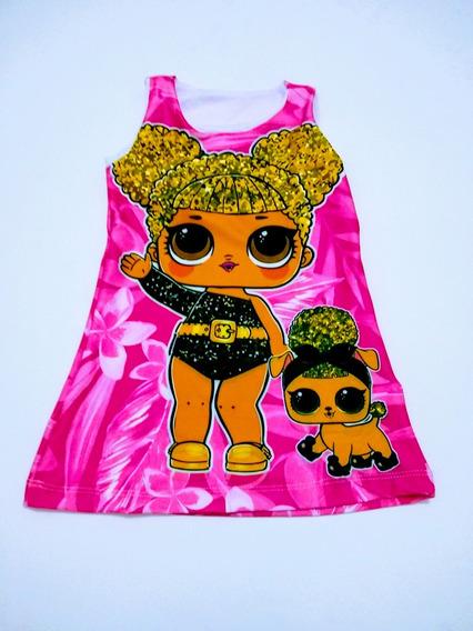 Kit 4 Vestido Trapezio Lol Surprise Varias Estampas Tam 2