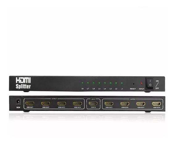 Splitter Hdmi 1x8 Divisor 8 Portas 3d 1080p 4k X 2k Mtv-118