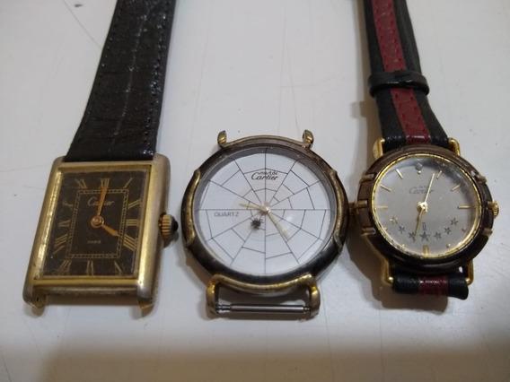 Relógio Cartier Antigo - 3 Peças No Lote