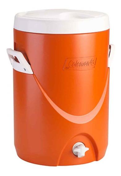 Cooler Coleman Dispensador De Agua Liquido Naranjo Camping