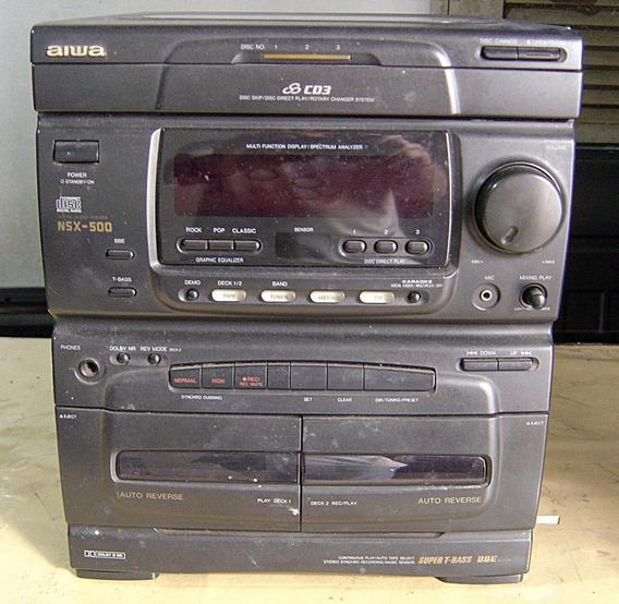 Micro System Aiwa Nsx500 Consert Ou Tirar Peças ( N. Liga )