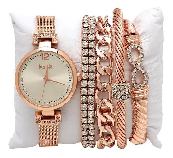 Reloj Kensie Gold Rose 5-piezas Incluidas 100% Original