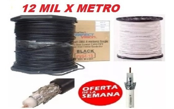 Cable Coaxial Rg6 Directv Intercable 305 Mts