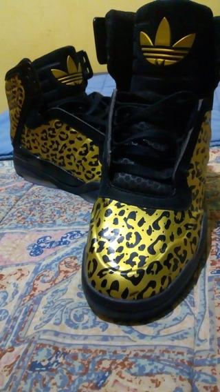 Zapatilla adidas Animal Print Talle 42.5 Botitas High Top