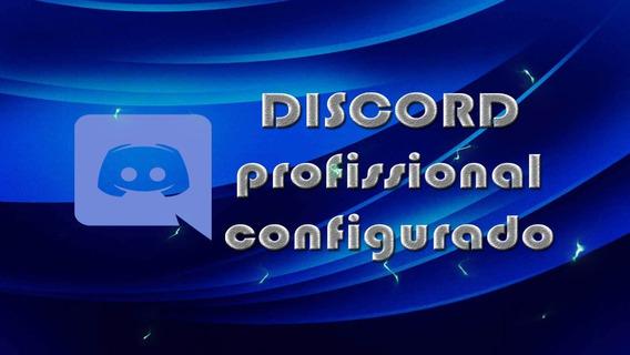 Discord Servidor Profissional Configurado 100% Roleplay Jogo