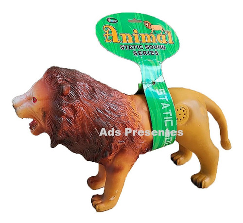 Leão Selvagem Grande C/ Som Animal Da Selva Macio Vinil Soft