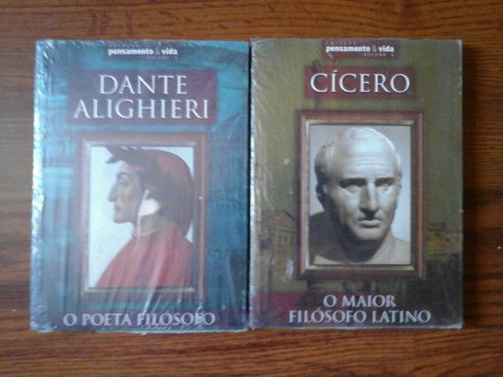 02 Livros - Cícero E Dante Aleghieri - Col. Pensamento