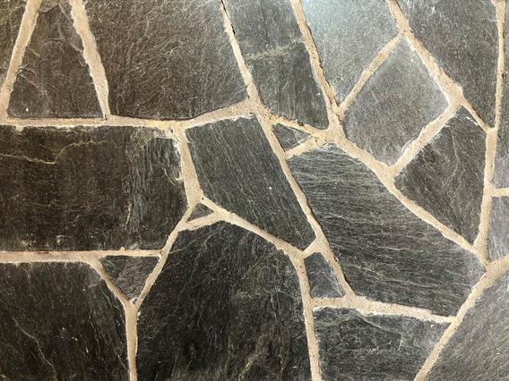 Piedra Revestimientos Laja San Luis Negra Irregular Piso/par
