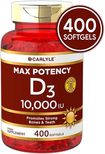 Vitamina D3 Softgels Natural 10,000iu 400 Tabletas Eg D9