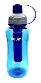 8 Garrafa Para Academia Água Squeeze Gelo Várias Cores 600ml
