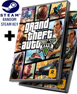 Random Steam Key + Gta 5 V - Grand Theft Auto 5 V Español - Juego Pc Windows + Regalo