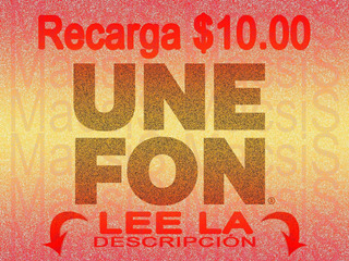 Recarga $10 Telcel Movistar At&t Unefon Weex Cierto Virgin +