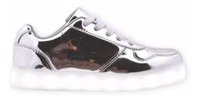 Zapatillas Luces Led Carga Usb Footy #17 18 20 Mundo Manias