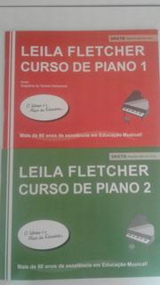 Kit Método Leila Fletcher Curso De Piano 1º E 2º Volumes