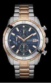 Relógio Guess Masculino Bicolor Fundo Azul 92593gpgsga1