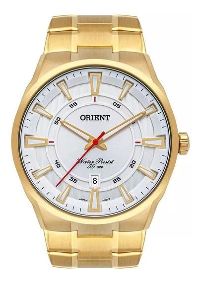 Relógio Orient Masculino Ref: Mgss1191 S1kx Casual Dourado