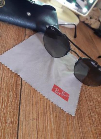 Óculos De Sol Ray Ban Hexagonal -preto