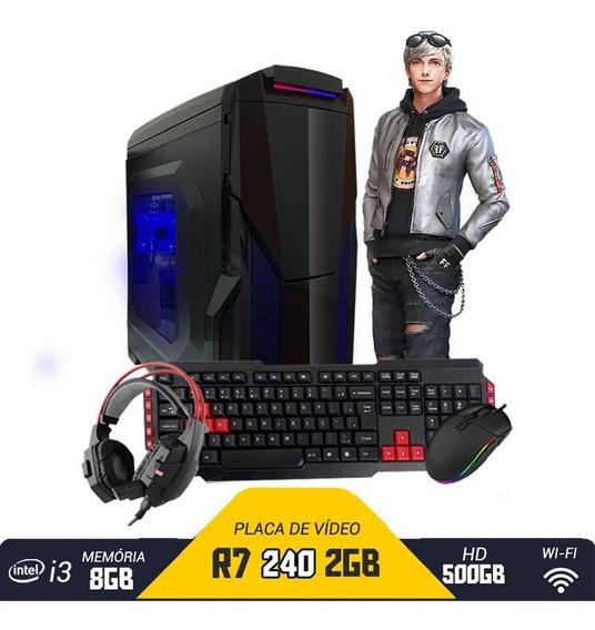 Pc Gamer Intel R7 240 8gb Hd 500gb Com Kit Gamer