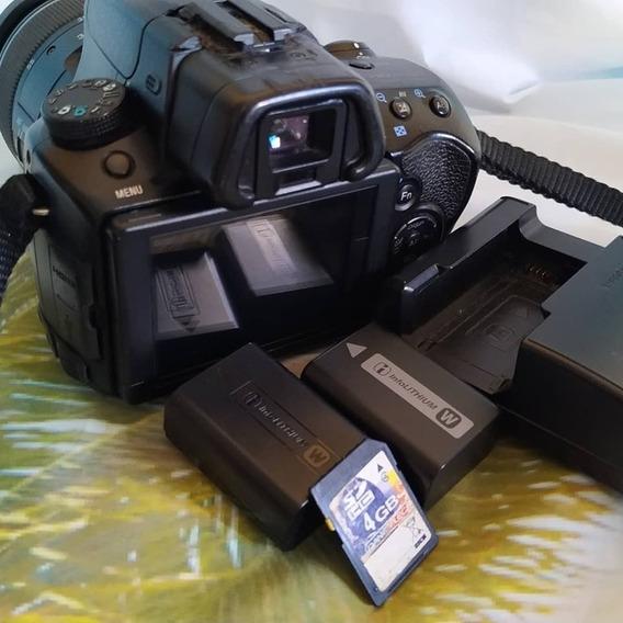 Câmera Fotográfica Sony Alpha A37 Com Lente 18-55mm