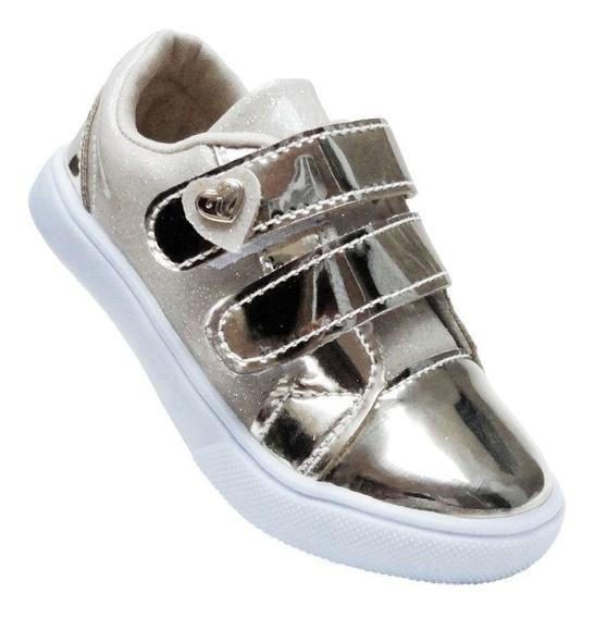 Sapatinho Infantil Feminino Sapato Tenis Casual Menina