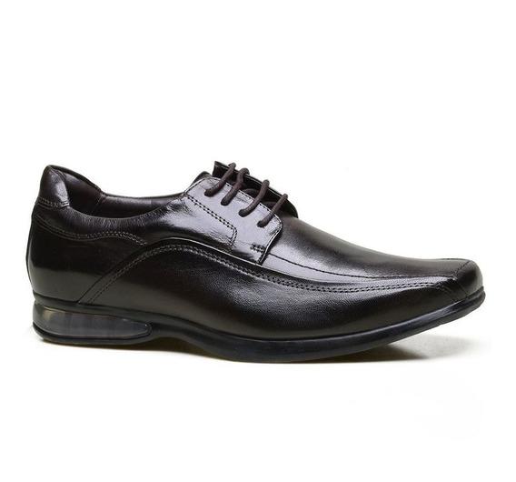 Sapato Social Supertech Air Em Couro Calvest Conforto