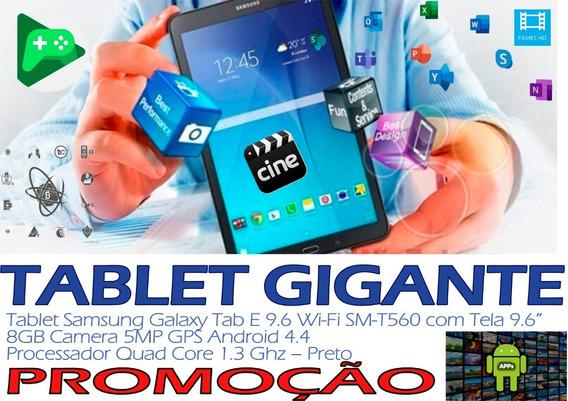 Samsung Galaxy Tab E 9.6 T560 + Cartão + Tela Gigante + Capa