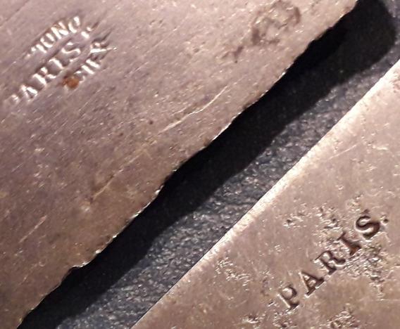 2 Cuchillo Paris Antiguo Acero Al Carbono 25 Cm X Unidad
