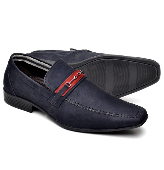 Sapato Social Suflair Em Couro Nobuck 3041