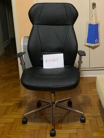 Office Cadeira Executiva Alta Cromado/preto Tok&stok