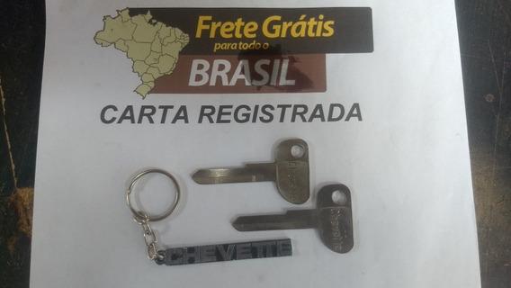 Chave Virgem Chevette Chaveiro 3 Peças Frete Grátis