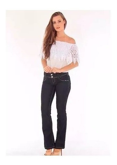 Calça Jeans Flare Escura Handara Promoção
