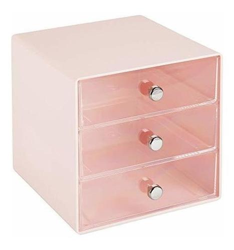 mDesign Organizador de ba/ño con 4 Compartimentos para Productos de Hombre etc Transparente Caja de pl/ástico para Productos de higiene Set de Afeitado Caja con Compartimentos para peines