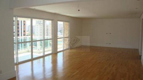 Apartamento A Venda No Brooklin Com 239 M² Com 3 Suítes E 4 Vagas De Garagem. - Ap1789