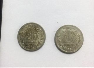 Monedas De Plata 20 Centavos De 1937