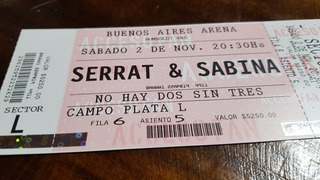 Entrada Serrat Sabina 2 De Nov