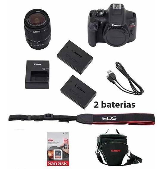 Canon Rebel T7 C/ 18-55mm +32gb + Bolsa + Bateria+nota