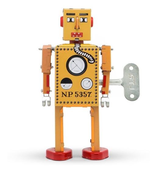 Robot A Cuerda De Hojalata Retro Tin Toy Lilliput Gato