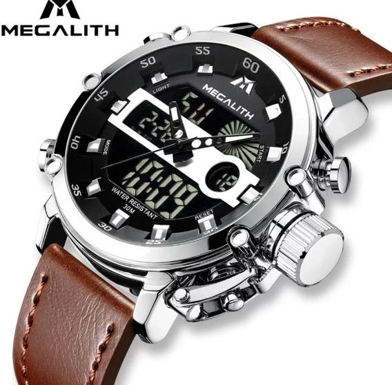 Relógio Megalith Original Couro